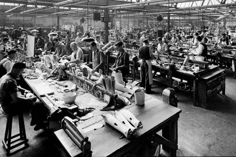 The limb factory after World War Two