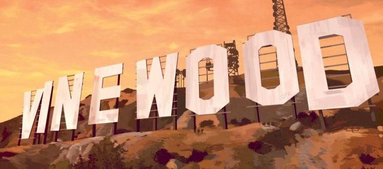 Vinewood vu depuis la vue d'un joueur sur un serveur GTA RP