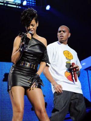 Rihanna and Chris Brown. AP