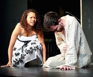 Katya Collazo as Salomé and Charles Roth as Iokanaan. Josh Siegel