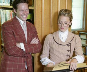 Gavin Lodge (Harold Hill) and Allison Berry (Marian Paroo) appearing in the TriArts production of 'The Music Man' courtesy of Actors Equity Association. Randy O'Rourke