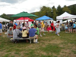 The aroma from a wide variety of food lured the crowd at the 2010 Taste of the Litchfield Hills in its first year at Lime Rock Park. RA Archive