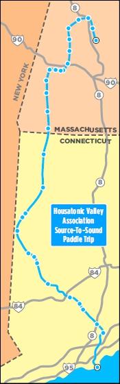 Map of Housatonic River Adventure by Steve Raggie, Republican-American