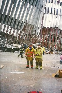 Volunteer firefighters Jason Wilson of Salisbury and Todd Anderson of Sharon went to New York on Sept. 14, 2001, to offer help at ground zero. Contributed