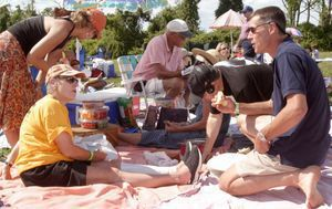 Fans of the Litchfield Jazz Festival told organizers they wanted a return to the Goshen Faigrounds, where lawn seats were a popular choice for a relaxed picnic during the performances. Republican-American archive