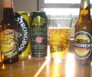 Deliciousness awaits: Angry Orchard Apple Ginger Hard Cider, Strongbow Dry Cider, Crispin Hard Apple Cider and Magner's Irish Cider. Will Siss / Republican-American
