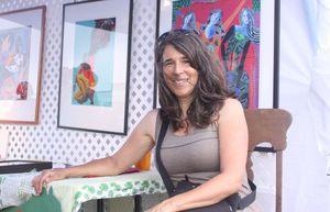 Goshen artist Danielle Mailer is exhibiting her work at the Litchfield Jazz Festival. John McKenna / Republican-American