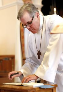 The Reverend Jack Gilpin of Roxbury, new leader of St. John's Episcopal Church in New Milford. Christopher Massa Republican-American