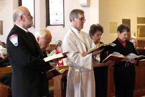 The Reverend Jack Gilpin of Roxbury during his ordination service Dec. 15. Christopher Massa Republican-American