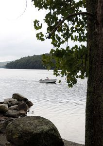 A boater takes off from the Lake Lillnonah boat in Bridgewater Tuesday morning. The State will temporarily close the launch starting next week to allow workers to upgrade and enhance the facility. The project is expected to take approximately 4 months. Christopher Massa Republican-American