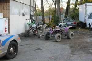 WATERBURY, CT - Nov. 8, 2014 - 110814ALHO02 - These quads were among five quads and a dirt bike that were towed from Boyden Street in Waterbury in the fall, after police charged the operators with various traffic violations. Waterbury Police Department considers the illegal use of quads on the city streets a quality of life and public safety issue, and has been cracking down on offenders. File photo