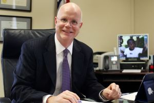 Kevin Lembo, State of Connecticut comptroller, works in his office in Hartford on Dec. 30. Lembo is co-chairman of the Connecticut Retirement Security Board, which on Monday released a study touting the feasibility of a public retirement program for private-sector employees. Republican-American Archives.