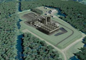 A project rendering of what the proposed CPV Towantic Energy Center would look like. The 805-megawatt natural gas-fired power plant would be located off Woodruff Hill Road, half a mile east of Waterbury-Oxford Airport. Contributed