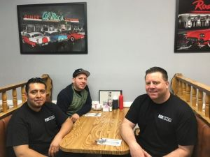 From left, Eddie Ramos, Arturo Vilchis and Big Guys owner Chris DiNunzio at the recently opened diner.