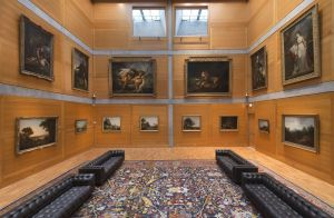 Yale Center for British Art, Library Court following reinstallation, photograph by Richard Caspole.