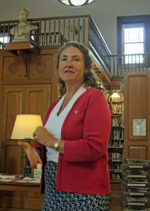 NORFOLK, CT-JUNE 26, 2016-062616KB01-Elizabeth Esty, U.S. Rep for Connecticut's 5th District, visited Norfolk Sunday to discuss current events at home and abroad and to hear constituents' concerns. Kathryn Boughton/Republican-American