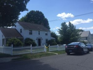 NAUGATUCK, CT - The home shown here on Culver Street in Naugatuck was co-owned by Yallock Yocher who was found dead at a home on Marion Avenue in Waterbury on Wednesday. A domestic disturbance is believed to have started in Naugatuck at about 4:45 a.m. led to a shooting in Waterbury at about 5 a.m. that left Yocher and another man dead. Paul Singley Republican-American