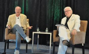 Director Andrew Bergman and Frank Delaney, an author and former BBC broadcaster, spoke about Marlon Brando during a session Saturday morning at the KentPresents ideas festival. Lynn Mellis Worthington Republican-American