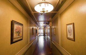 A third-floor hallway, where the wooden floors creak, in Torrington's Yankee Pedlar Inn.  Jim Shannon Republican-American