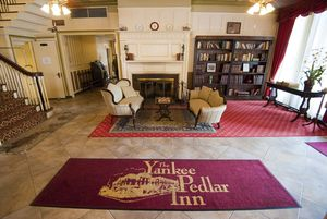 The cozy lobby of the Yankee Pedlar in Torrington.  Jim Shannon Republican-American