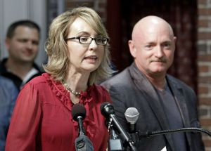 Former Arizona Rep. Gabby Giffords, and her husband, retired astronaut Mark Kelly. (AP Photo/Mary Schwalm, File)