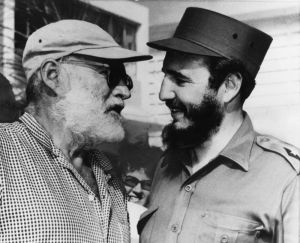 Fishing friends - American author Ernest Hemingway (left) and Cuban Prime Minister Fidel Castro, who often went fishing together in Cuba, chat in Havana May 15, 1960, 14 months before Hemingway's death. Castro led a group of Americans on a tour of the home outside Havana where Hemingway spent most of his winters for 20 years, when they were in Cuba in connection with the December exchange of foods and medicine for Bay of Pigs invasion prisoners. The home has been preserved as a museum. (AP Photo)
