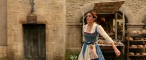 Emma Watson as Belle in a scene from the movie