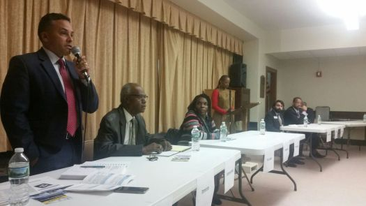 Michael Puffer Republican-American Waterbury candidates for Aldermanic District 2 speak at a forum at Grace Baptist Church on Tuesday night. The Greater Waterbury branch of the NAACP sponsored the candidate forum.
