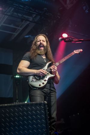 G3 2018, with Joe Satriani, John Petrucci, pictured here, and Phil Collen, will be at the Toyota Oakdale Theatre in Wallingford at 7 p.m. Thursday.  Contributed