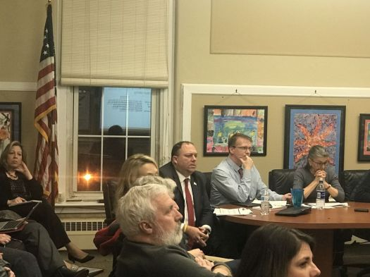 Ajhani Ayres Republican-American Jeffrey Solan, superintendent of Cheshire Public School, school officials and members of the Board of Education discuss the discontinuation of the Summit Learning platform at a curriculum meeting Thursday night.