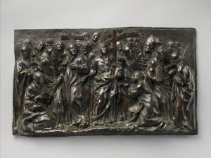 Alessandro Algardi, Saint Ignatius Loyola with Saints and Martyr of the Jesuit Order, designed ca. 1629 and probably cast in the later 17th century by Giovanni Andrea Lorenzani. Bronze. Contributed