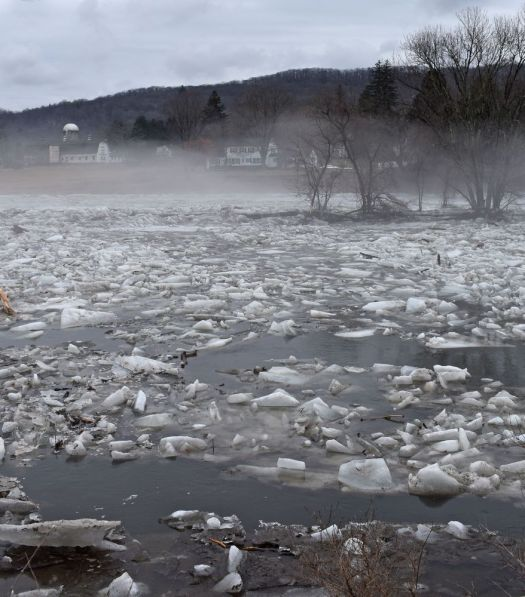 Republican-American archives The massive ice jam on the Housatonic River is gone. For weeks, the ice jam worried residents but it slowly melted as days reached the mid-40s, as seen in here 16 days after the ice jam formed.
