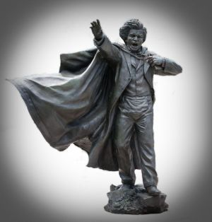 This commemorative statue of Frederick Douglass, recently installed at the University of Maryland, is one of the few representations of the abolitionist as a young man. The statue, created by Andrew Edwards and inspired by The Frederick Douglass Ireland Project, portrays Douglass at 27, the age of his travel to Ireland in 1845-46 on a lecture tour, an experience he described as