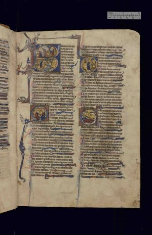 The 'Moore Psalter,' 1270, is part of the Paston collection exhibition at the Yale Center for British Art through May 27. Contributed