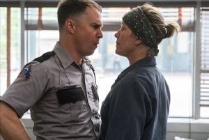Sam Rockwell an Frances McDormand are both up for Oscars for 'Three Billboards Outside of Ebbing, Missouri. Merrick Morton