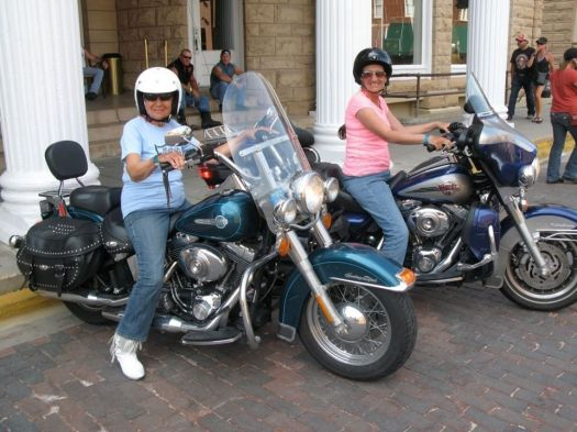 Gloria Tramontin Struck, 92, left, and her daughter, Lori DeSilva, are still actively riding. Contributed
