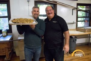 Contributed photos 'State Plate' host Taylor Hicks with Gary Bimonte of Frank Pepe Pizza Napoletana.