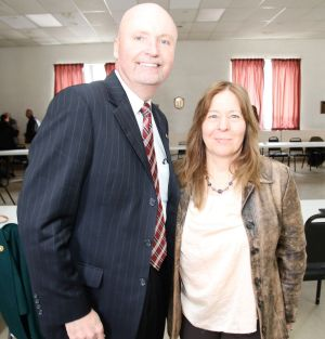 Litchfield Area Business Association President Paul McLaughlin and Goshen Business Circle President Amy Tobin. John McKenna Republican-American