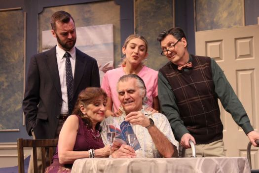 Standing, from left, Jack Lafferty, Amanda Kristin Nichols and Warren Kelly. Seated, from left, Marina Re and Paul D'Amato. photo credit: Paul Roth