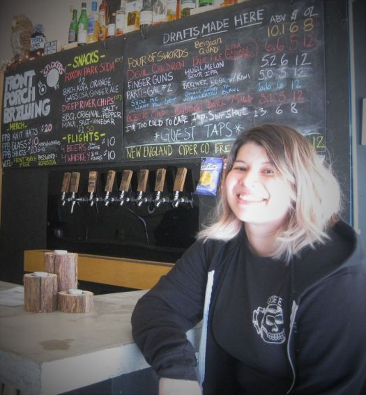 Tiffany Ulrich -- co-owner, brewer, and front-of-house manager of Front Porch Brewing in Wallingford. Photo Will Siss