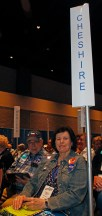 2018 Cheshire Delegates Martin Cobern and Judy Villa gathered at the Connecticut Democratic Convention in Hartford Saturday afternoon. Michael Kabelka / Republican-American.