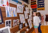 WOODBURY, CT. 07 June 2018-060718BS571 - Annie Woodward, a seventh grader from Woodbury Middle School looks at the fashion drawings on display at an art show done by students of the Region 14 schools at Nonnewaug High School on Thursday afternoon. Bill Shettle Republican-American