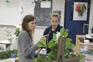 04 - Stephanie Fusco from Terri's Flower Shop talks with Megan Krokosky about Krokosky's design.