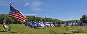 Shepaug Valley School graduates enjoy perfect weather for their big day on Saturday. Michael Kabelka / Republican-American