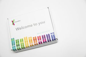 The contents of a 23andMe genetic testing kit as seen on January 3, 2018, in Silver Spring, Md. (Kristoffer Tripplaar/Sipa USA/TNS)