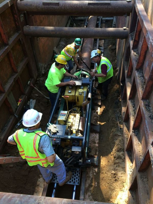 Contributed Contractors for Connecticut Water replace a water main on Rubber Avenue in Naugatuck in 2015. The company paid for the infrastructure improvement with revenue from a surcharge in customers bills.