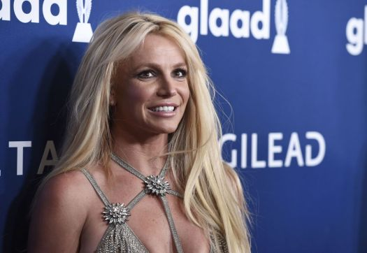 Britney Spears arrives at the 29th annual GLAAD Media Awards at the Beverly Hilton Hotel on Thursday, April 12, 2018, in Beverly Hills, Calif. (Photo by Chris Pizzello/Invision/AP)