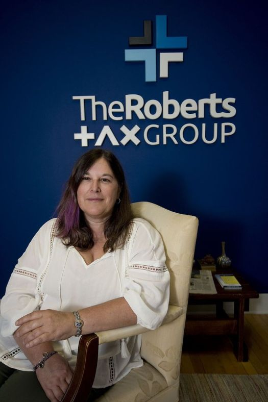 Kris Roberts, owner of Robert's Tax Group in Torrington, has won the national Tax Professional of the Year Award. Roberts will receive her award during a ceremony in California Monday.\(Jim Shannon, Republican-American)