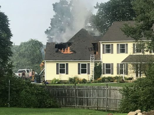 Thomaston Assistant Fire Chief Glenn Clark said fire departments from Northfield, Terryville and Watertown were called in to assist with extinguishing the structure fire at 438 Walnut Hill Road in Thomaston on Tuesday. Jacqueline Stoughton/Republican-American