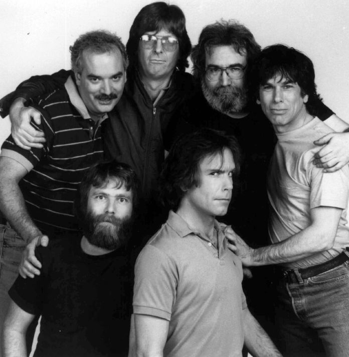 Members of the Grateful Dead pose in a 1985 photo in Marin County, Calif. (Associated Press)